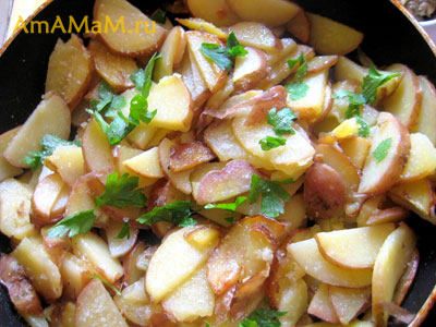 Жареная картошка - рецепт приготовления
