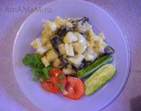 Тушеная картошка с грибами (свинухами) - очень вкусная еда!