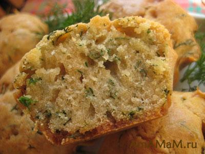 Кексы с сыром и зеленью