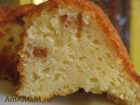 Фото творожного кекса с изюмом