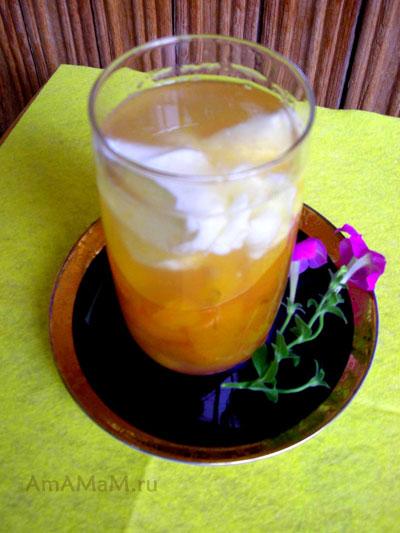 Вкусный абрикосовый кисель со сметаной