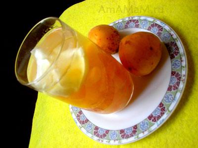 Абрикосовый кисель со сметаной - рецепт
