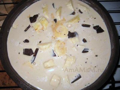 Готовим сливочное суфле - торт кофейный с бананами и шоколадом