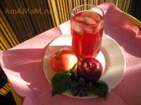 Вкусный и простой компот из яблок и винограда!