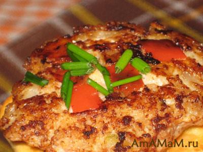 Куриные котлеты со сладким перцем - фото и рецепт приготовления