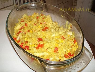 вкусная курица с рисом по-восточному