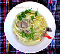 Простая и вкусная куриная лапша из готовых макаронных изделий