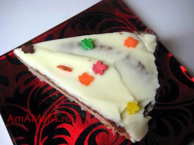 Бисквитный пирог на рисовой муке с лимоном и творожно-сырным кремом