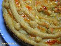 Мясной пирог Меандр из готового слоеного теста
