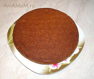 Бисквитный корж для пирога (торта) с морковкой