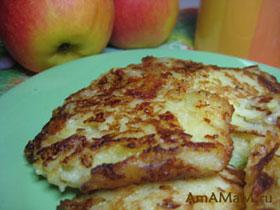 Вкусный рецепт оладьев с яблоками и сыром