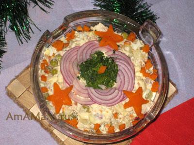 Как делать салат Оливье (классический) - рецепт с фото