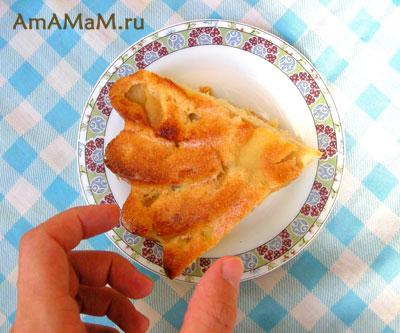 Вкусный бисквитный пирог с яблоками