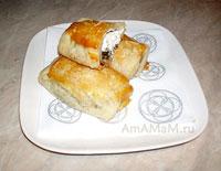 Вкусные пирожки из слоеного теста с козьим сыром!