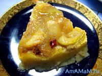 Десерт с бананами и яблоками, сваренный на водяной бане
