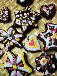 Расписные шоколадные пряники