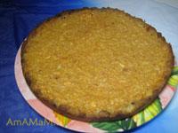Яблочный пирог из всякой всячины: остатков хлеба, яблок,  сметаны, яиц
