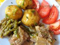 Рецепт говяжьих ребрышек с чесноком или стрелками