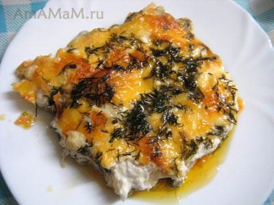 Рыбная запеканка с палтусом и горошком - очень вкусная еда!