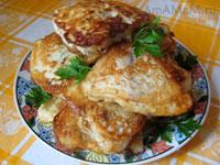 Вкусная жареная рыба (морской окунь) в тесте