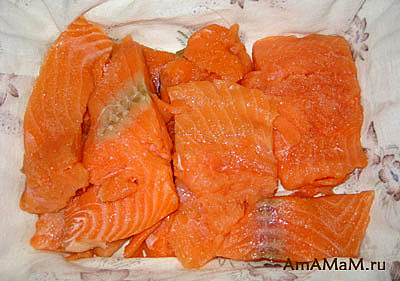 Заворачиваем красную рыбу в тряпочку