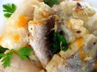 вкусная тушеная рыба - треска