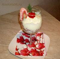 Красивый и вкусный салат для романтического ужина
