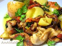 Рецепт для куриных шкурок