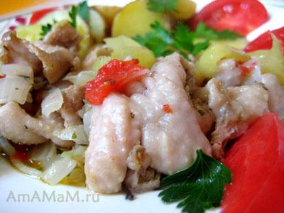 Приготовление куриных шкурок- рецепты