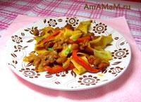 Ванильный бульон с уткой и рисовой лапшой – кулинарный рецепт