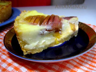 кусочек персикового суфле