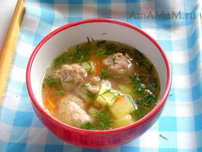Суп с фрикадельками и картошкой - простой рецепт супа на скорую руку