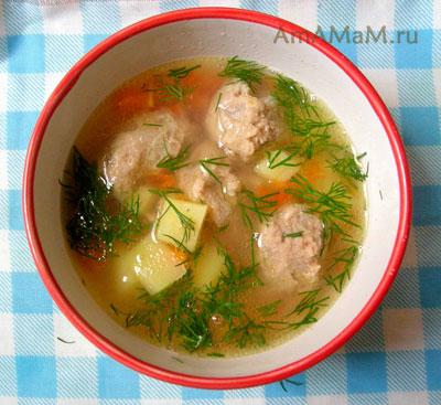 Какой суп приготовить с фаршем - рецепт фрикаделькового супа с фото