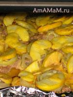Приготовление свинины с яблоками и имбирем в духовке