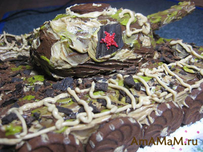Как сделать из торта танк - мастер-класс