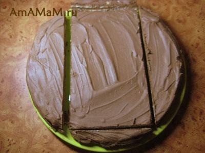 Схема разрезания торта для танка и рецепт