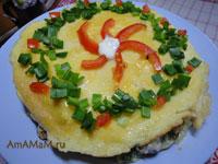 Как сделать торт из омлета с сырным кремом