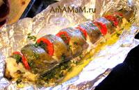 Очень вкусная рыба (треска - менек) запеченная в фольге в духовке