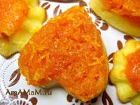 пудинг из творога и морковки со сливочным соусом