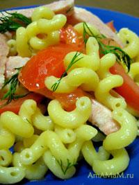 витушки с помидорами и ветчиной, приготовленные в печи СВЧ