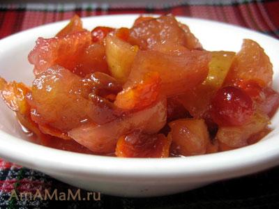 Варенье из яблок и боярышника, очень вкусное и полезное, пятиминутка