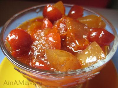 Вкусное, ароматное, не очень сладкое варенье из яблок и шиповника