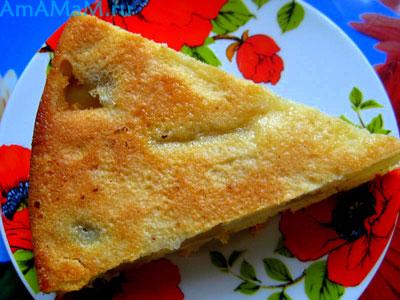 Кусочек яблочного пирога и способ приготовления, пропорции, фото