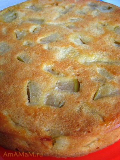 Яблочный пирог на блюде - фото и рецепт приготовления