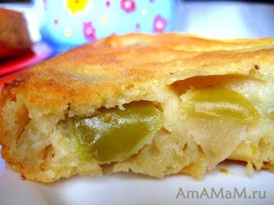 Яблочки в яблочном пироге - фото