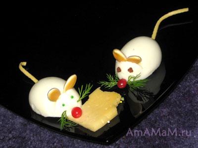 Как сделать мышей из еды - рецепт и фото