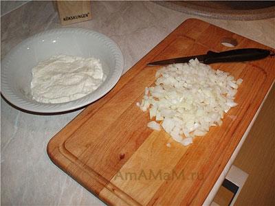 Подготовка продуктов для приготовления зраз