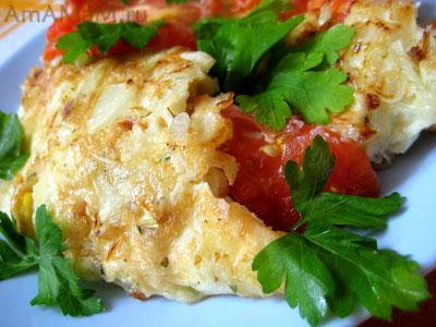 Фото омлета из помидоров и цветной капусты - очень вкусная домашняя еда
