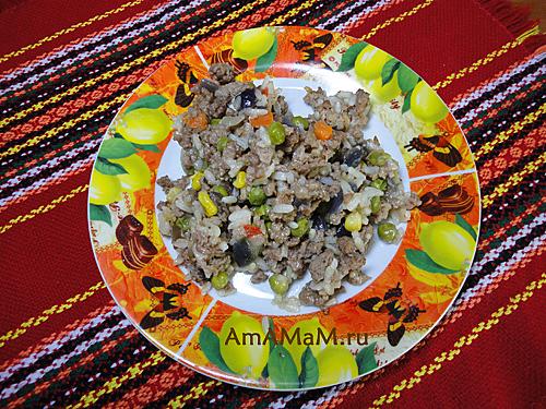 Как приготовить гавайскую смесь с мясом (фаршем)