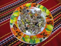 Очень вкусная и сытная гавайская смесь, жареная с фаршем на сковороде